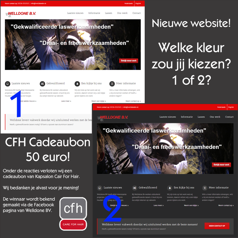 Nieuwe website welldone