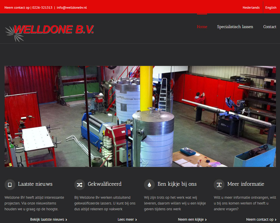 Nieuwe website Welldone BV
